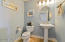 Bright and inviting guest bathroom