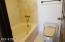 3rd bathroom tub & toilet.