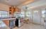 Lower unit kitchen.