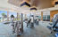 Bright and clean fitness center