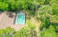Areal View of back yard and pool.