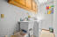Yes, even the laundry room is huge with plenty of storage and a place to put a clothes rack.