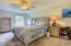 Master Bedroom with on suite bath and walk in closet