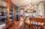 Formal Dining Room with Included Custom China Cabinet