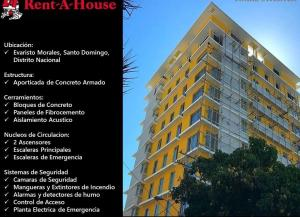 Apartamento En Alquileren Santo Domingo Dtto Nacional, Evaristo Morales, Republica Dominicana, DO RAH: 18-571