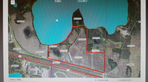 82+/- Acres of development land located on the edge of Detroit Lakes. Very unique opportunity here with many possibilities existing on this ground from commercial, residential to multifamily. Land is located north of Hwy. 10 across from Wal-Mart. Current taxes are based on Green Acres rates.