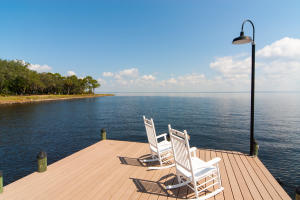 This photo is an example of a dock that can be built on this lot, which features deep water access.