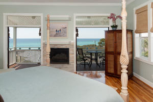 Master Bedroom Fireplace & Gulf View