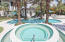 Hot-tub flowing into lagoon pool