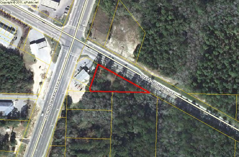 .988 acres of Commercial C2. 421' on Highway 20. Survey at office. This parcel is located at US Highway 331 and Highway 20 in Freeport. Owner will consider financing.