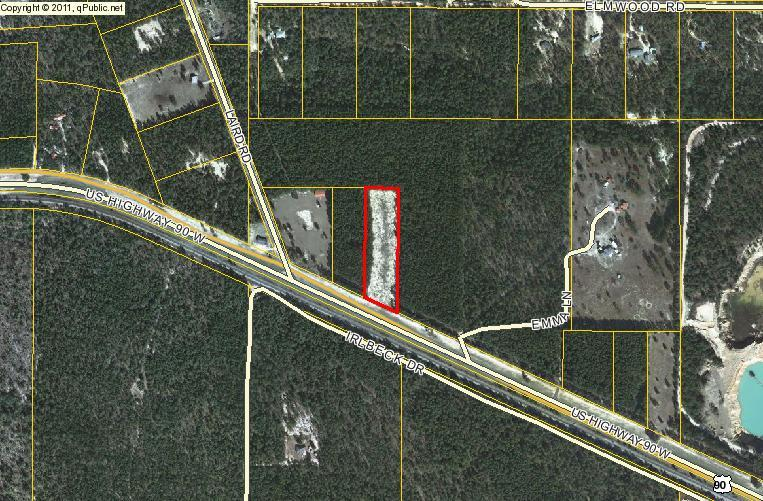 Good central location for commercial. 5 minutes to interstate. Mossy Head planning to grow.  New Walton county school nearby. Close to the new Blackstone golf course. This lot is one lot from the intersection of Laird road and Highway 90. Highway 90 frontage is 219 feet and total acreage is 3.42. New Mossy Head Industrial Park being developed now. Loves Truck Stop, Fed Ex Ground (200,000 sq ft) coming. Two Semi dealerships. Only 3 minutes away. Property that abuts this to the west is also for sale. It is also 3 acres. Buyer to verify all information.