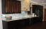 Abundant counter space and cabinetry