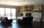 Family room with views and access to open rear deck