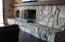 Custom stone fireplace / hearth