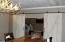 Custom double hanging/slider doors to media room