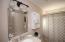 New light fixtures, vanity, and cabinet