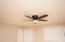 New ceiling fan in living room