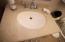 Countertop in bathroom