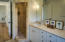 walk-in travertine shower