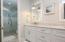 Luxurious marble master bathroom.