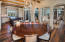 The open kitchen/dining/living floor plan creates the perfect entertaining space