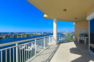 Endless views of Destin Harbor from the balcony of this penthouse unit