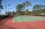 Community lighted tennis court