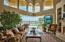 Expansive LIving area opening to the pool and bay!