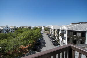 Top floor unit in the nicest building in Rosemary Beach with private underground parking, storage cage, incredible views from 3 balconies of all of Rosemary Beach including a peak of an ocean view. Great open floor plan.