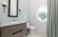 Bathroom with dog shower, 1st level