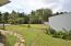 Backyard view from driveway