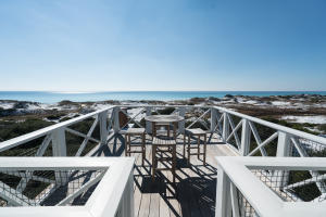 Rare and impressive views over WaterSound Beach's deep dunes from 4th Level roof top