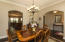 Arch Entry Ways into Formal Dining