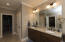 Double Vanity with granite counter tops, Water Closet