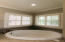 Garden Tub with privacy plantation shutters