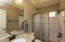 This bath functions as guest bath or private bath to the 4th bedroom