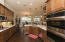 Nice wood cabinetry in kitchen