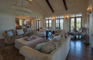 20' Cathedral Ceilings w/reclaimed wooden beams and wood-burning fireplace