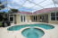 Pool with lanai in back yard- pool has a gas heater for winter months