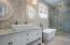Master Bathroom with custom tile design