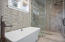 Master Bathroom with over size shower