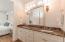 Master bath - dual vanities, marble counters