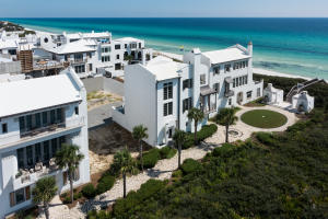Prominently poised Gulf-side in Alys Beach, Florida.