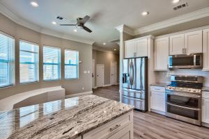 Beautiful grey granite throughout home
