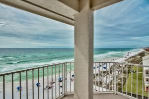 Endless Gulf front views from this gorgeous western end waterfront condo in Crystal Dunes!