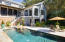 Custom pool with uv water purifying system and sundeck, hot tub, and fountains