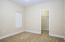 custom blinds and large closets in all bedrooms