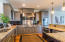 Second level. Large kitchen, fully equipped, stainless steel appliances