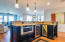 Second Level. Spacious kitchen island includes wine cooler