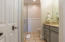 Second level. Guest en-suite bathroom with walk-in shower